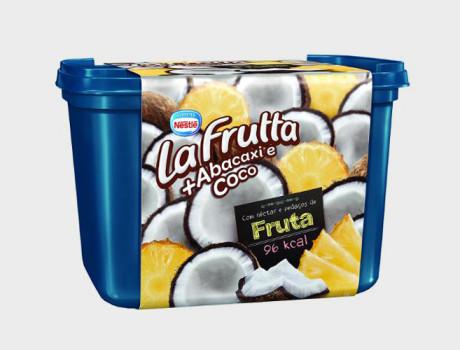 Sorvete Nestlé La Frutta abacaxi e coco pote 1,5l
