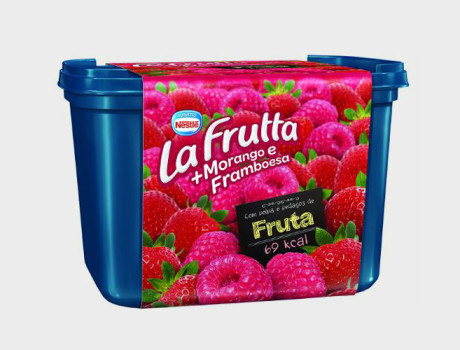 Sorvete Nestlé La Frutta morango e framboesa pote 1,5l