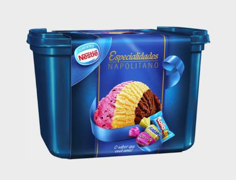 Sorvete Nestlé napolitano pote 1,5l
