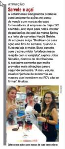 Degustação de Açaí Selfsy na Rede Top é destaque em revista