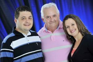 Paulo Neto, Paulo Filho e Joice Sabatke