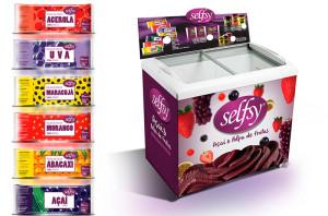 Polpas de frutas e freezer Selfsy