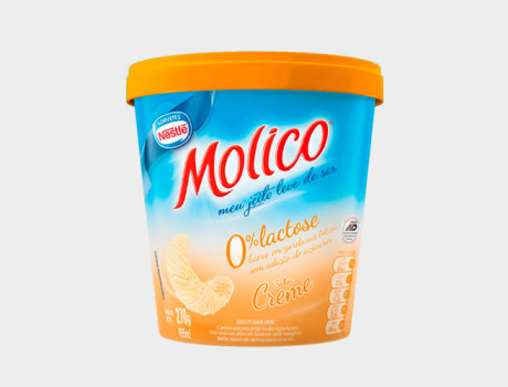 Sorvete Nestlé Molico Creme 0% Lactose 455ml