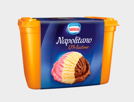 Sorvete Nestlé Napolitano Zero Lactose Pote 1,5L