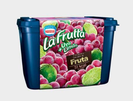 Sorvete Nestlé La Fruta Uva e Limão Pote 1,5L