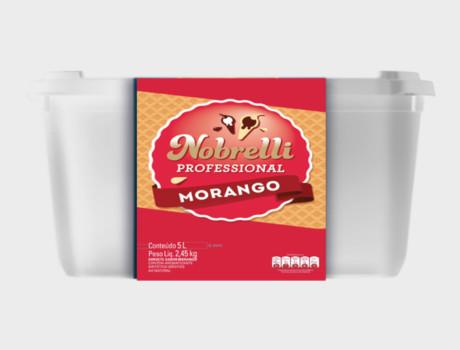Sorvete Nobrelli 5 l morango
