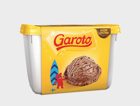 Sorvete Garoto Chocolate ao Leite Pote 2L