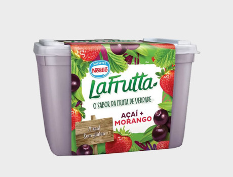 Sorvete Nestlé La Frutta Açaí + Morango Pote 1,5L