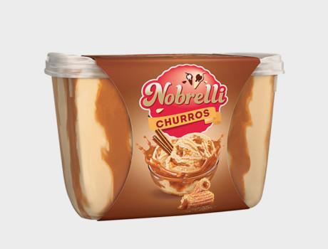 Sorvete Nobrelli Churros com Doce de Leite 2L