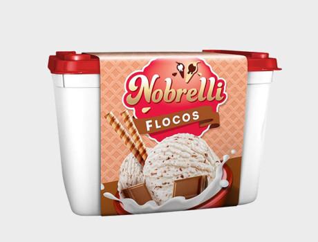 Sorvete Nobrelli Flocos 2L