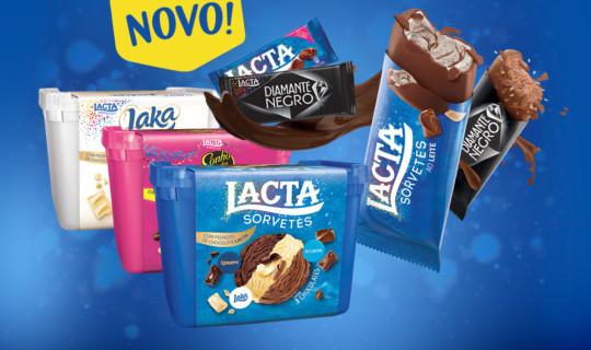 Chocolates Lacta agora são sorvetes